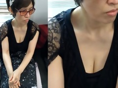 aged oriental mother i - down blouse riding