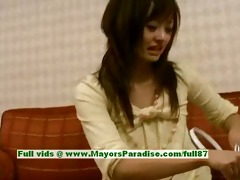 saori innocent wicked oriental girl is talking