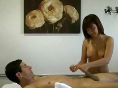 oiled up oriental massage specific cook jerking