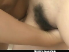 bound up chick yurina acquire her unshaved pussy
