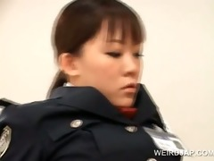 weird oriental sex with hawt police woman fucking
