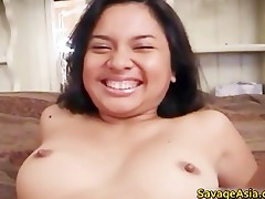 sexy asian breasty playgirl getting her hairless