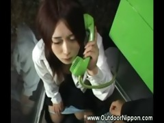 phonebooth oral stimulation from japanese beauty