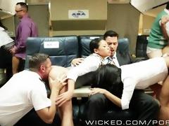 hawt oriental fuckfest on a plane