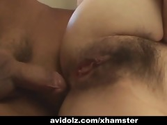 japanese milf receives fingered and drilled