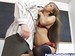 small oriental babe class room hard sex
