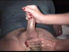 indian wife giving oily pecker massage