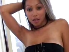 sexy oriental striping from her corset