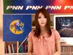 oriental tv anchor gives bj during the news