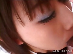 close-up with legal age teenager oriental