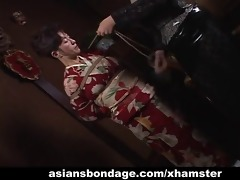 japanese milf in kimono acquires bound up