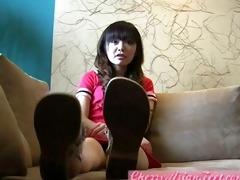 super cute feet legal age teenager oriental gal