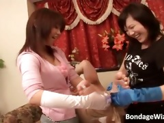 two oriental sluts are playing