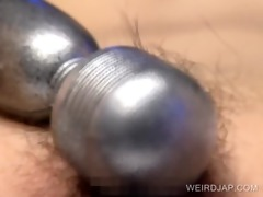 hirsute wet crack vibration with oriental bondman