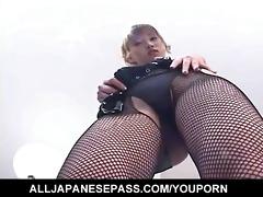 orny japanese av model undresses out of her