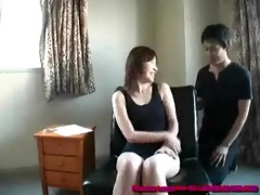 japanese cougar receives her armpit used as a