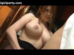 japanese chick cum on her worthy titties
