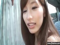 asian gal flashing body acquire willing for