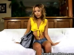 cute lalin girl acquires double teamed