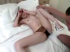 luscious oriental in high heels acquires fucked