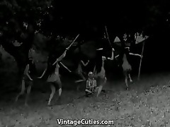 tribal dancing of nude indian cuties