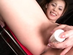 slutty natsumi lies down widens her legs and is
