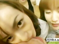 subtitled pov harem orall-service fuckfest with