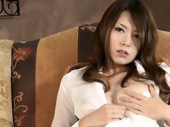 yui hatano in a watch through shirt starts to