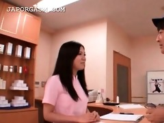 cute asian nurse caught in a hawt some at work