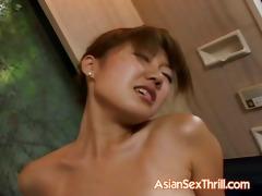 hawt oriental acquires her shaggy wet crack licked