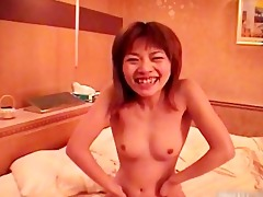 japanese angel gets her unshaved pussy part1