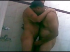 desi indian wife taking bathroom with husbands