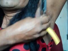indian gal armpits shaving .