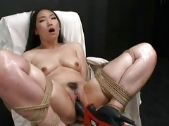 sexy oriental gal bound and drilled with fucking