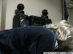 korean boy copulates blonde stewardess