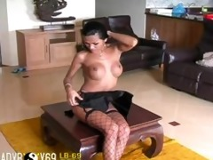 tgirl ex shows us how she is cums