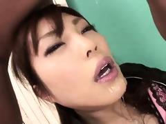 appealing kana miura on her knees being skull