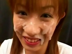 oriental first-timer facial jizz flow