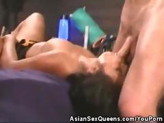 hawt asian babe teasing and jock sucking