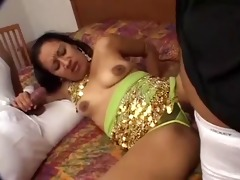 indian floozy nisha takes knobs in her unshaved