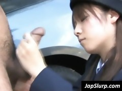 slutty oriental cop eats jock outdoors
