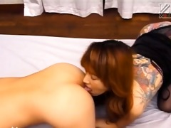 japanese tatooed slut anal team-fucked