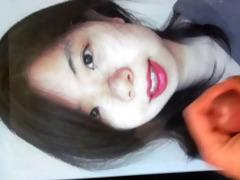 cum tribute on a shy lipstick oriental beauty