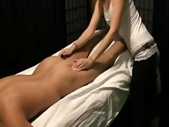indian sweetheart giving full body massage to