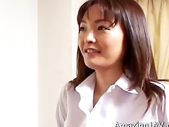 cute oriental schoolgirl flashing her part4