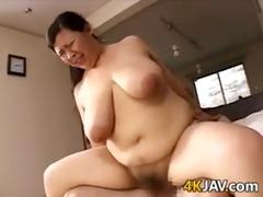 japanese big beautiful woman riding a knob