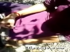indian gal made to expose and screwed outdoor by
