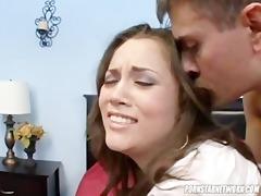 kristina rose receives her chin overspread in cum