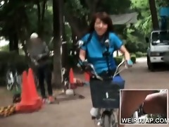 cute legal age teenager oriental hotties riding