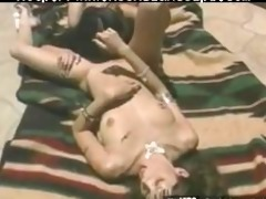 concupiscent oriental honey dildoing moist vagina